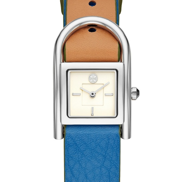Tory Burch Accessories - nwt | Tory Burch Thayer Denim & Beige Watch